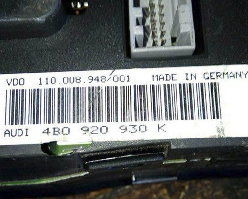 Панель приборов Ауди А6 С5 дизель 4B0920930K