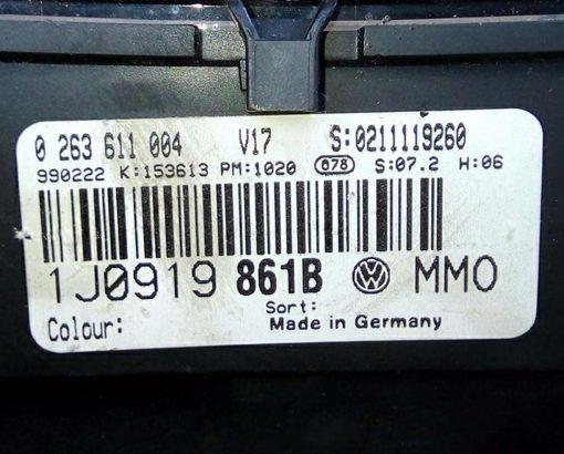 Панель приборов Фольксваген Гольф 4 1J0919861B