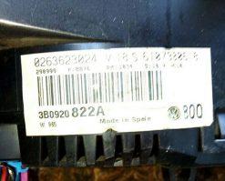 Панель приборов Фольксваген Пассат Б5 3B0920822A