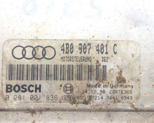 Блок управления двигателем 2.5 TDI 4B0907401C - купить в Минске