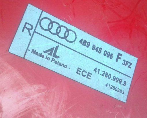 Фонарь задний Ауди А6 С5 правый универсал рестайлинг 4B9945096F купить на разборке в Минске