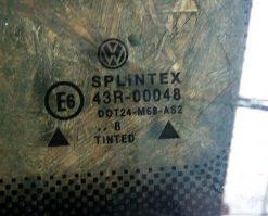 Стекло Volkswagen Passat B5 заднее левое седан неопускное 3B5845297D AS2