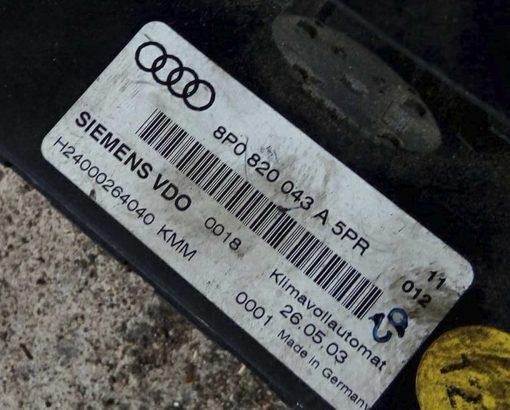 Панель управления климатом Audi A3 8P0820043A - купить в Минске