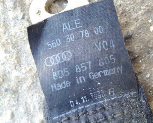 Ремень безопасности Audi A4 B5 задний центральный 8D5857805 - купить в Минске