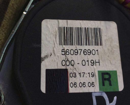 Ремень безопасности Volkswagen Phaeton задний правый 560976901 - купить в Минске