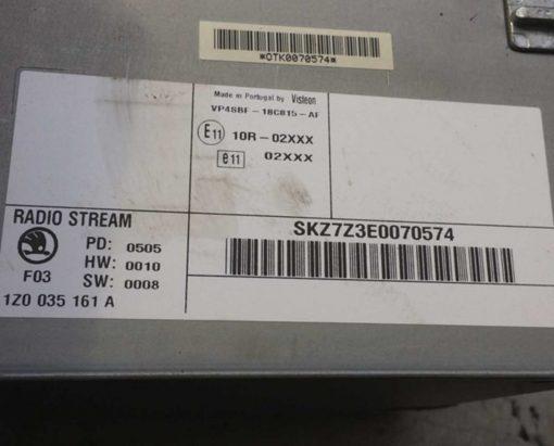 Магнитола Skoda Octavia A5 1Z0035161A - купить в Минске