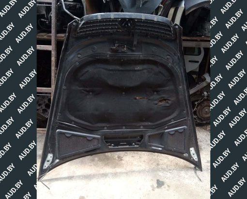 Капот Volkswagen Phaeton, цвет - черный, год выпуска - 2004. Доставка по Минску, Беларуси, России и СНГ.