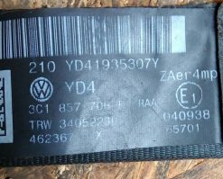 Ремень безопасности Volkswagen Passat B6 передний правый 3C1857706F
