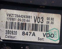 Панель приборов Volkswagen Passat B5 дизель 3B0920847A - купить в Минске