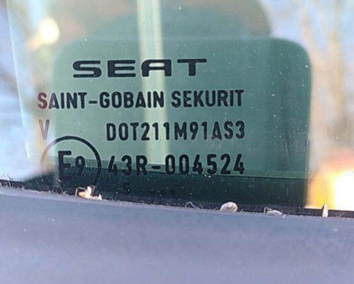 Стекло двери Seat Altea заднее правое AS3 - купить в Минске