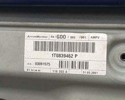 Стеклоподъемник Volkswagen Touran задний правый 1T0839462P - купить в Минске